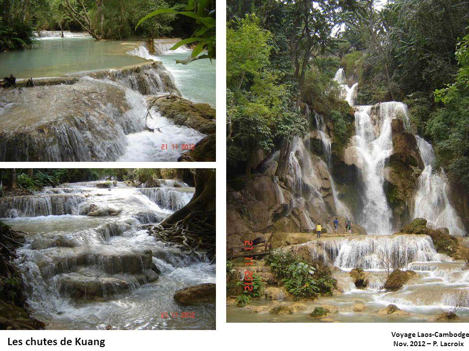 Voyage Laos-Cambodge Nov. 2012 – P. Lacroix Les chutes de Kuang