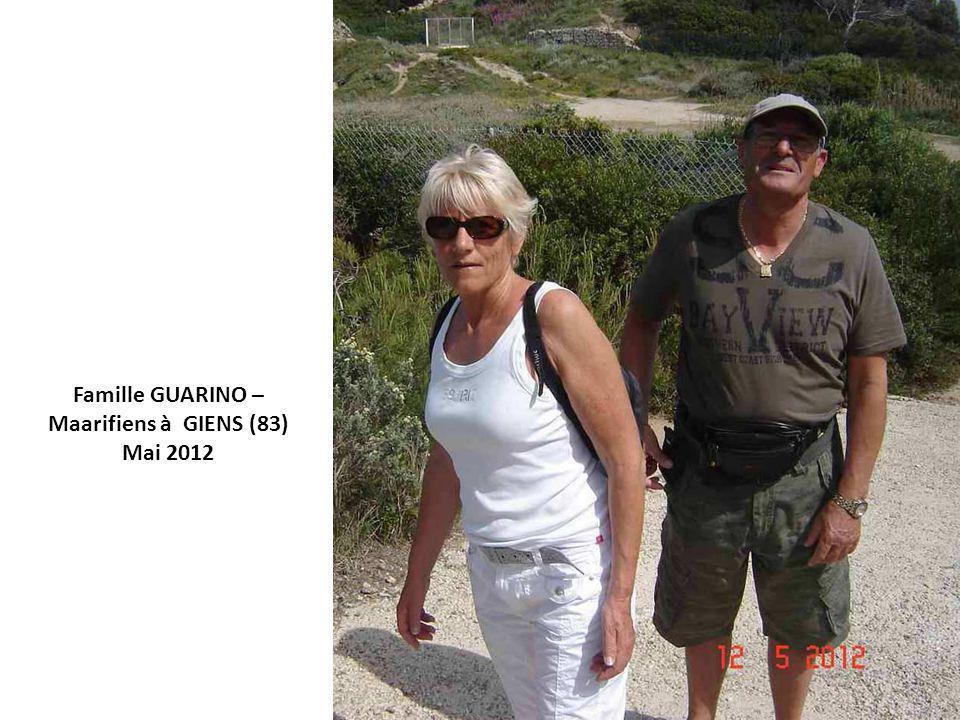 Famille GUARINO – Maarifiens à GIENS (83) Mai 2012
