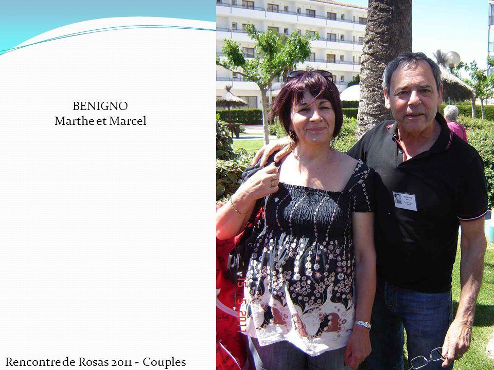 Rencontre de Rosas 2011 - Couples BENIGNO Marthe et Marcel