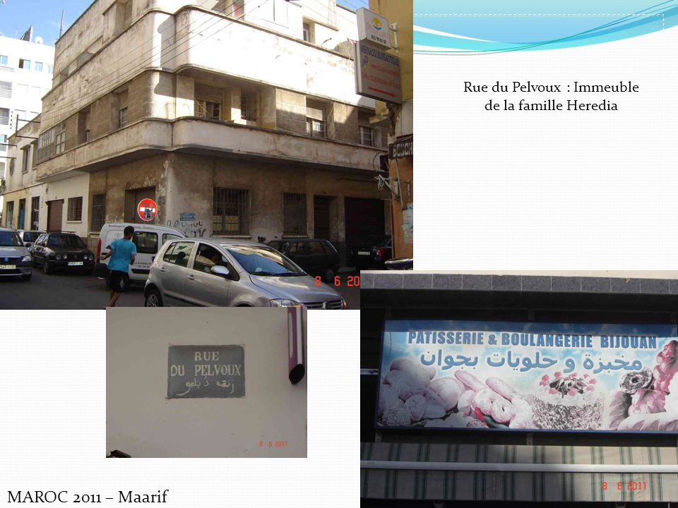 MAROC 2011 – Maarif Rue du Pelvoux : Immeuble de la famille Heredia