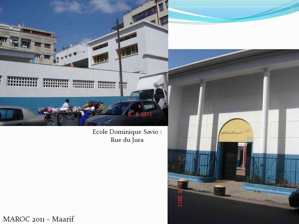 MAROC 2011 – Maarif Ecole Dominique Savio : Rue du Jura