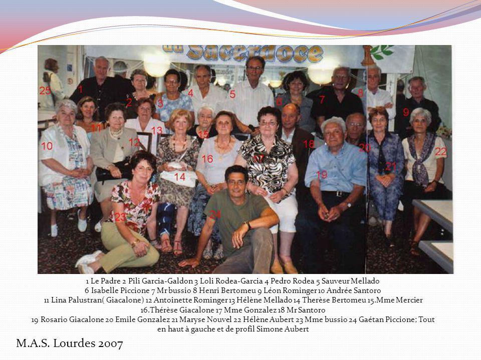 M.A.S. Lourdes 2007 de gauche à droite : n°42 Jackie Gardey, Pili Garcia Galdon, Dédé Ruiz, Loli et Pedro Rodeas