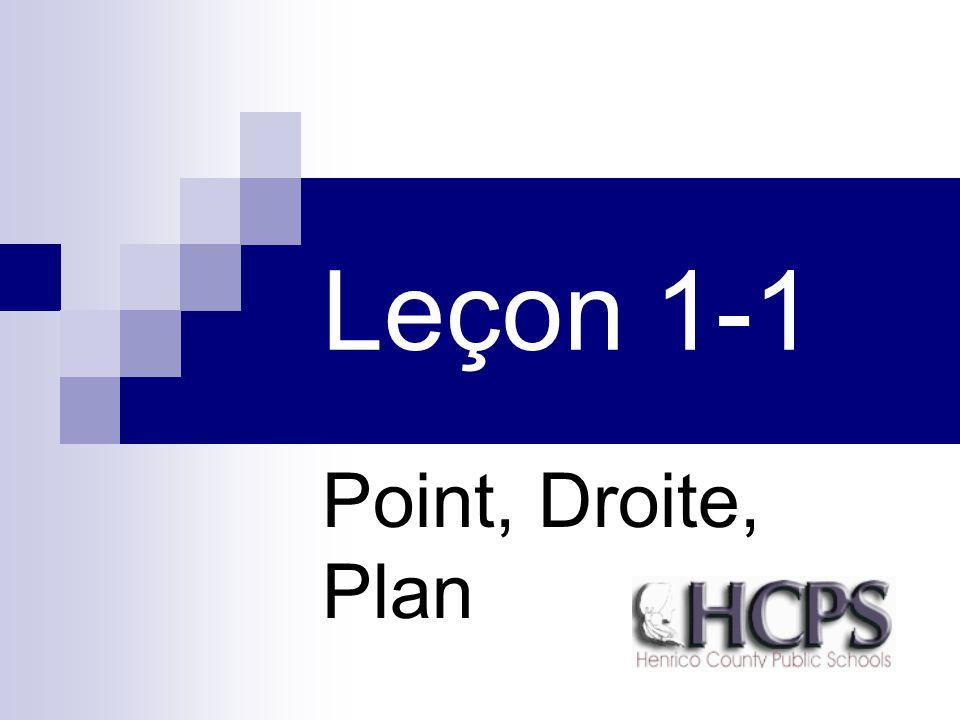 Leçon 1-1 Point, Droite, Plan