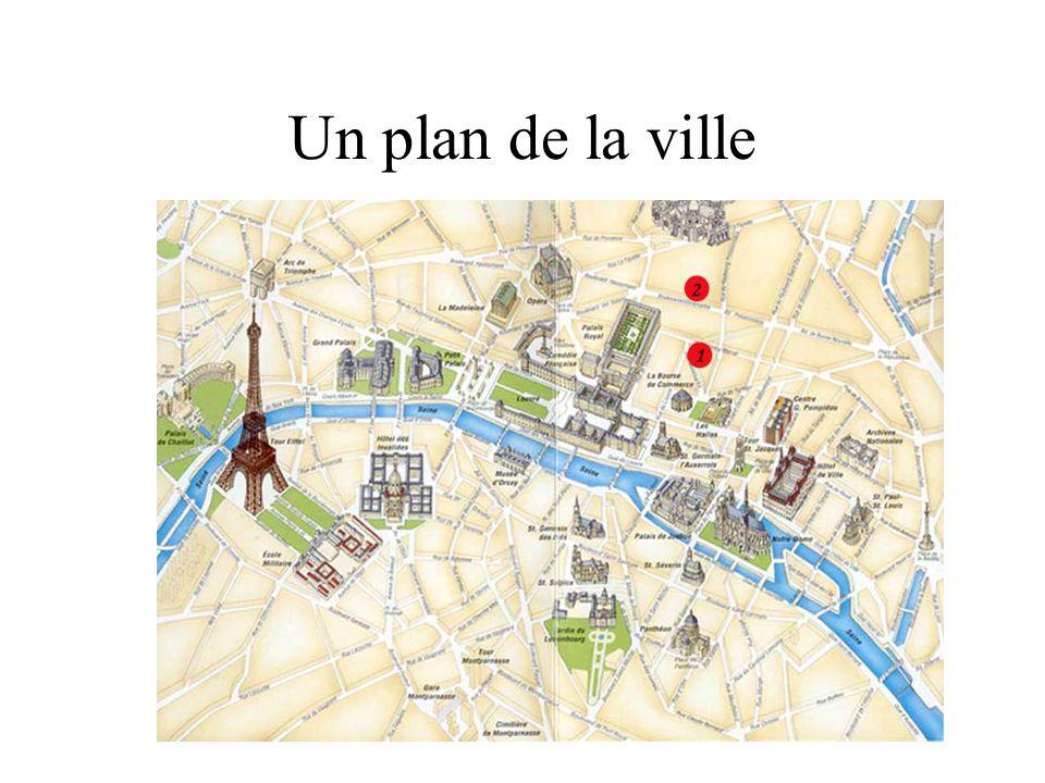 Un plan de la ville