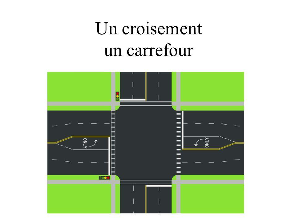 Un croisement un carrefour