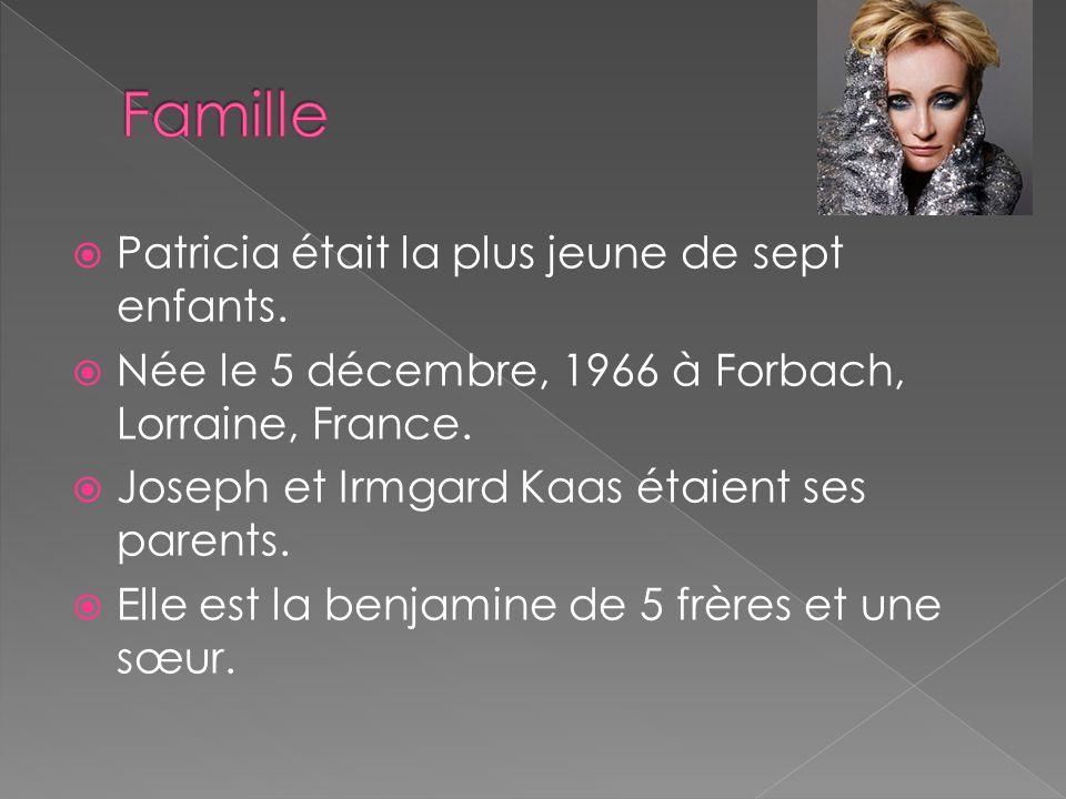 Patricia était la plus jeune de sept enfants. Née le 5 décembre, 1966 à Forbach, Lorraine, France. Joseph et Irmgard Kaas étaient ses parents. Elle es