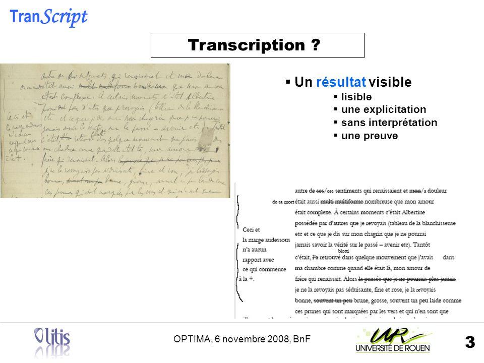 OPTIMA, 6 novembre 2008, BnF 4 Transcription .