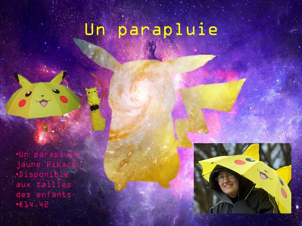 Un parapluie Un parapluie jaune Pikachu Disponible aux tailles des enfants 14.42