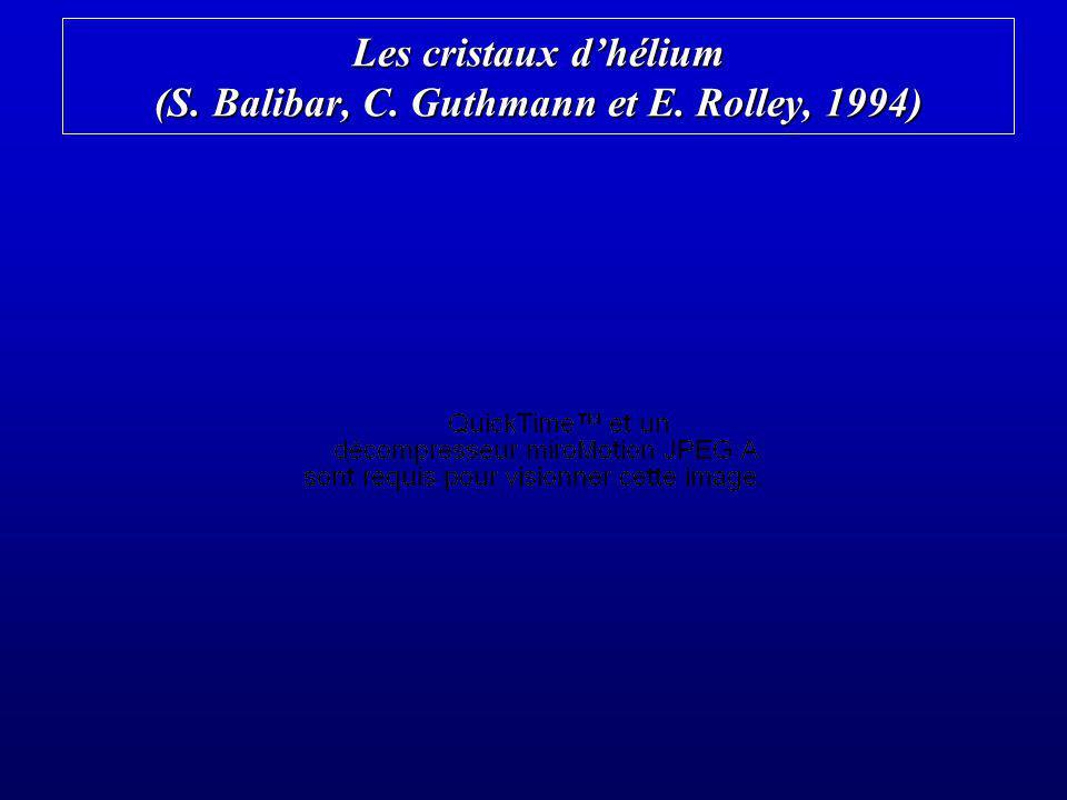 Les cristaux dhélium (S. Balibar, C. Guthmann et E. Rolley, 1994)