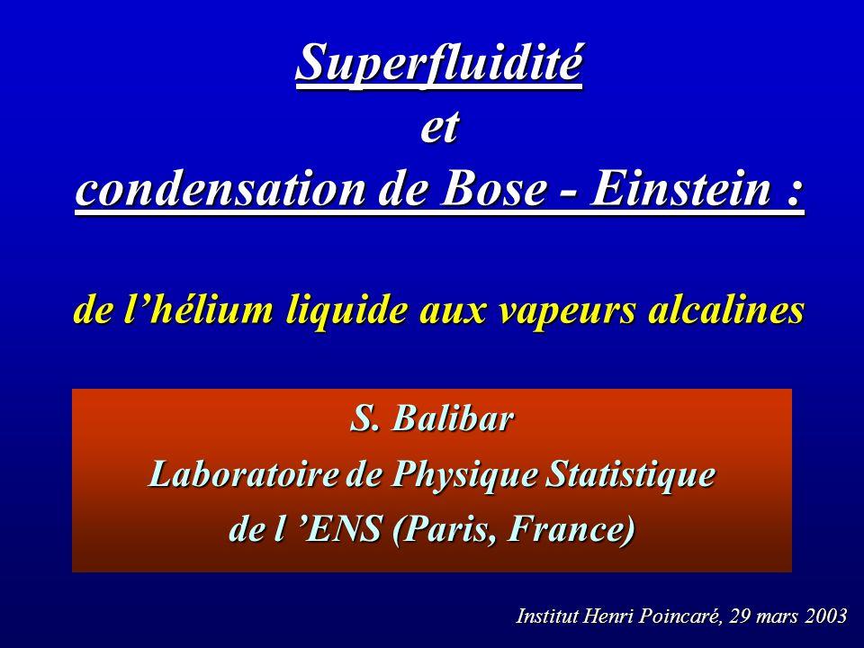écoulements macroscopiques contrôlés O.Avenel E. Varoquaux et al.