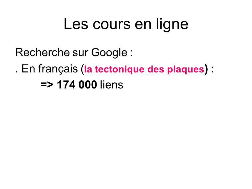 Les cours en ligne Recherche sur Google :.