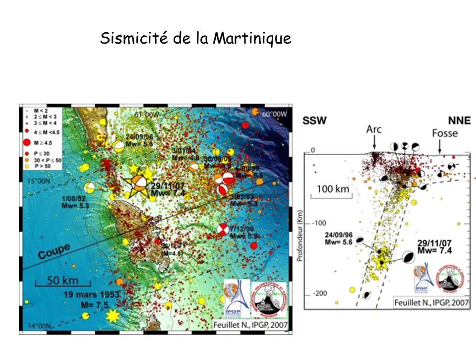 Sismicité de la Martinique