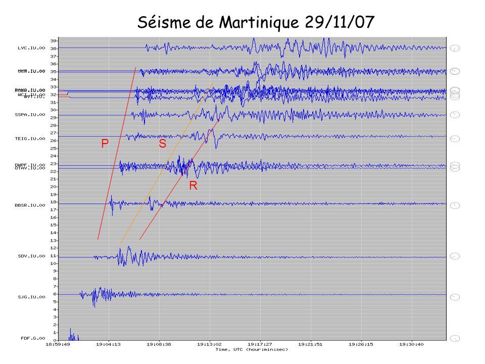 P R S Séisme de Martinique 29/11/07