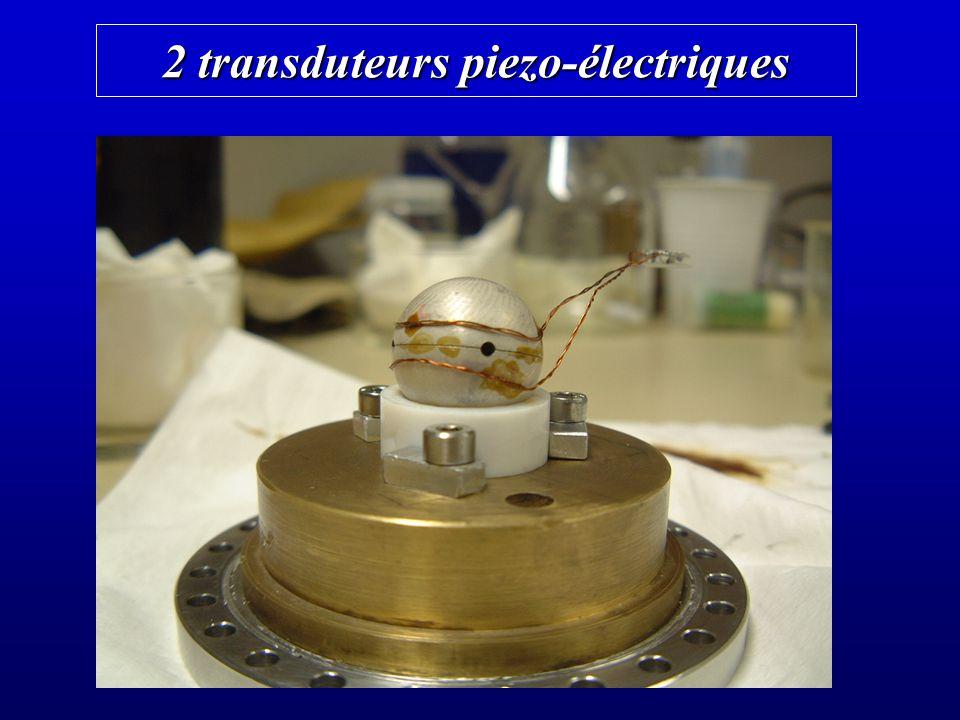2 transduteurs piezo-électriques