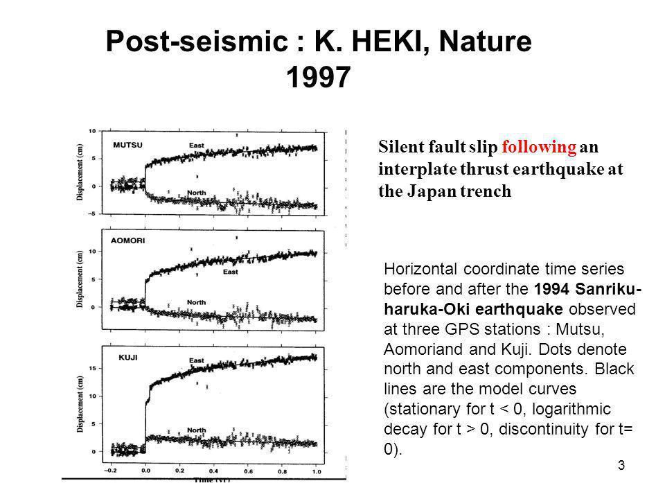 14 Les lacunes sismiques candidates à une rupture