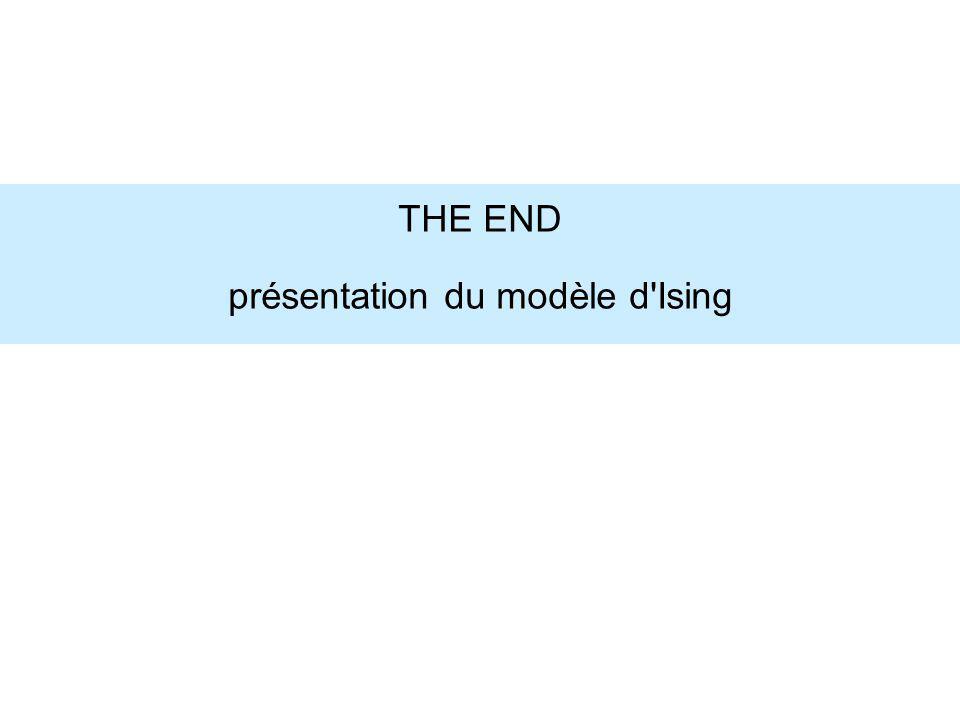 THE END présentation du modèle d'Ising