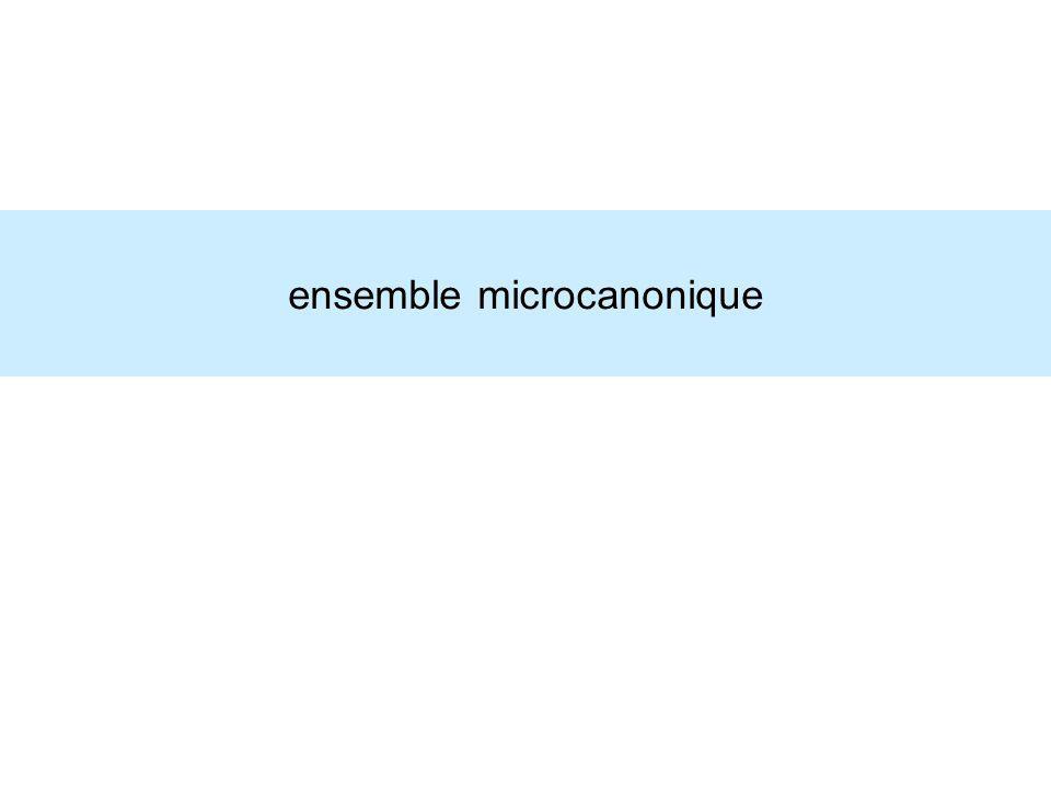 ensemble microcanonique