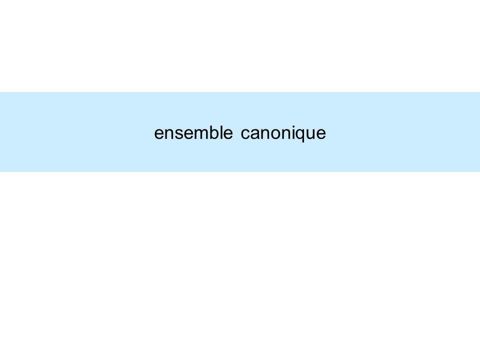 ensemble canonique