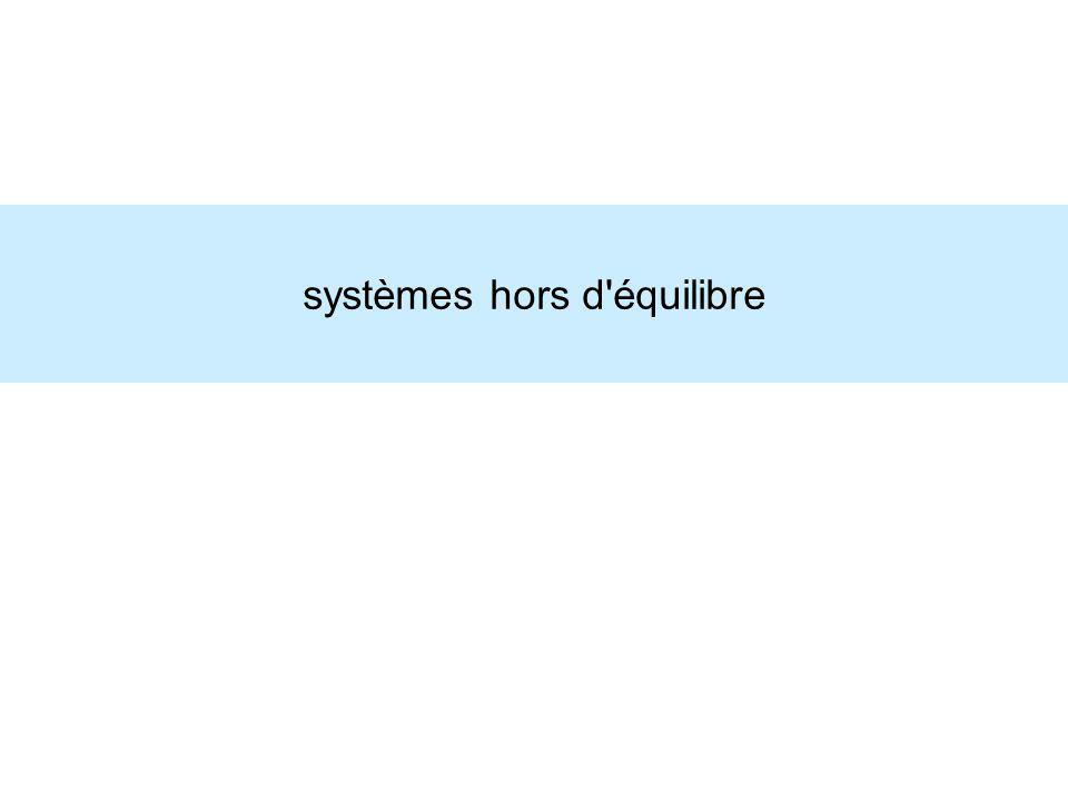systèmes hors d'équilibre