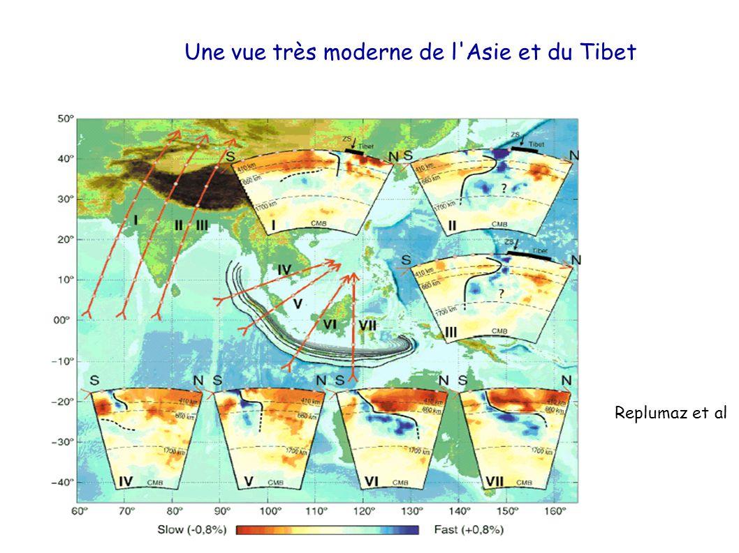 Une vue très moderne de l'Asie et du Tibet Replumaz et al