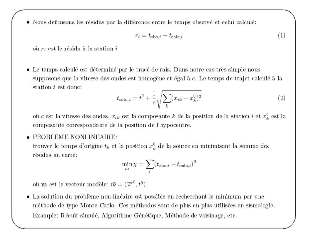 Détermination de résidus relatifs par intercorrelation Deux stations 0.2 s
