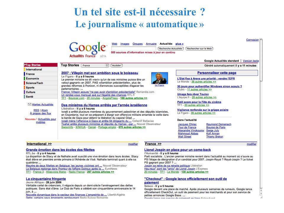 RMLL - Juillet 2006 - Florence Devouard Un tel site est-il nécessaire .