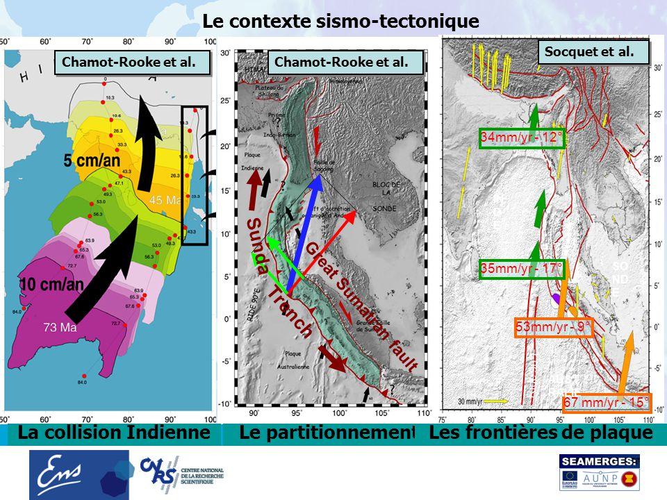 5 janvier 20062 Le contexte sismo-tectonique Great Sumatran fault Sunda Trench 67 mm/yr - 15° 53mm/yr - 9° 35mm/yr - 17° 34mm/yr - 12° AUST RALIE IN D E SO ND E Ride 90°E Chamot-Rooke et al.