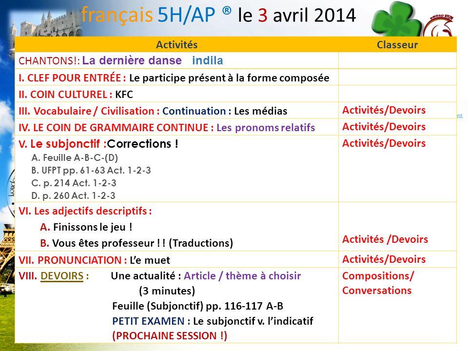 LA CLEF POUR LENTRÉE! français 5H/6AP Le participe présent à la forme composée Créez des phrases en suivant le modèle. MODÈLE: En travaillant bien, il