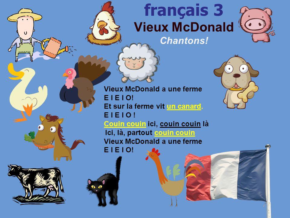 français 3 le 28-29 mai 2014 ActivitésClasseur CHANTONS !: « Le poussin piou » I.