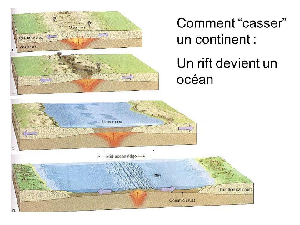 Comment casser un continent : Un rift devient un océan