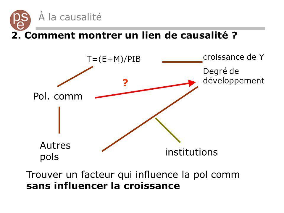 À la causalité 2. Comment montrer un lien de causalité .