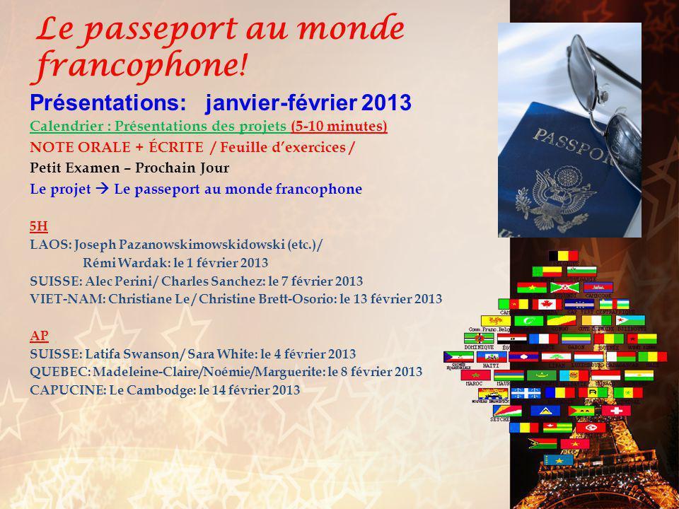 français 5H/AP Le futur antérieur pp.306-307 Act.