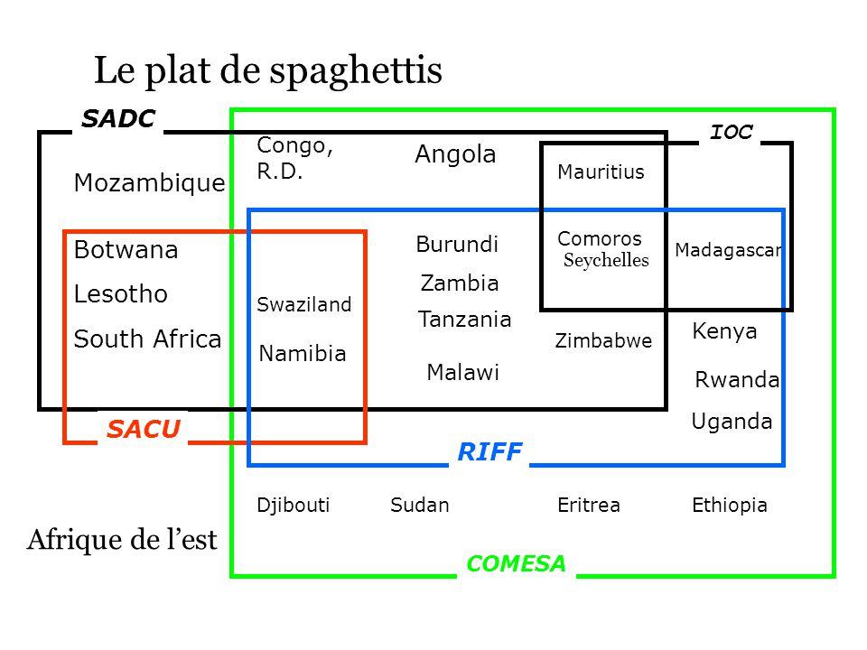 Le plat de spaghettis Congo, R.D.