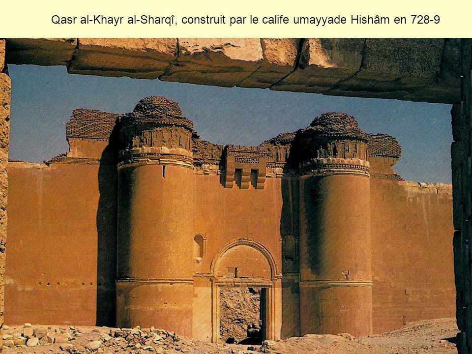 Qasr al-Khayr al-Sharqî, construit par le calife umayyade Hishâm en 728-9