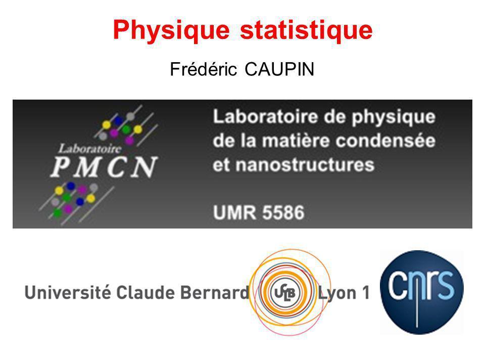 Frédéric CAUPIN Physique statistique