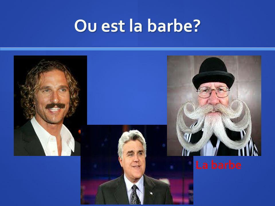 Ou est la barbe? La barbe