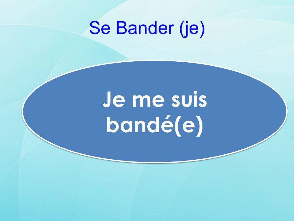 Se Bander (je) Je me suis bandé(e)
