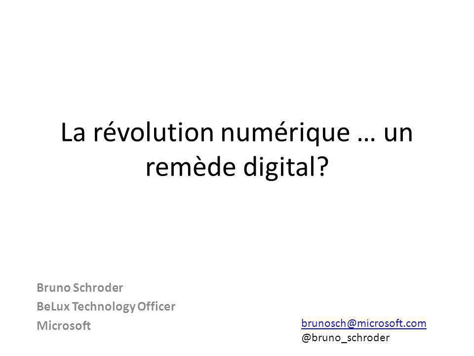 La révolution numérique … un remède digital.