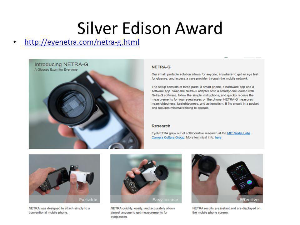 Silver Edison Award http://eyenetra.com/netra-g.html