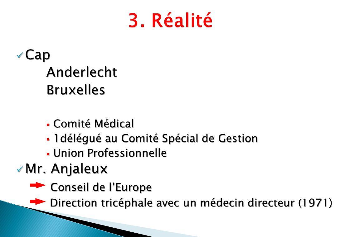 Cap CapAnderlechtBruxelles Comité Médical Comité Médical 1délégué au Comité Spécial de Gestion 1délégué au Comité Spécial de Gestion Union Professionn