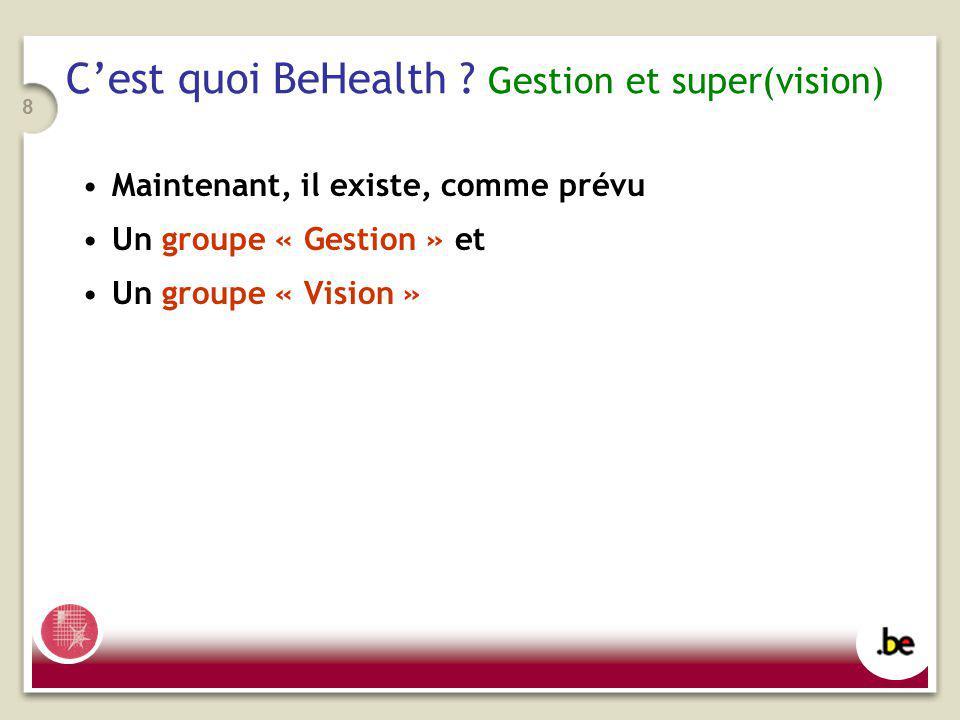 8 Cest quoi BeHealth .