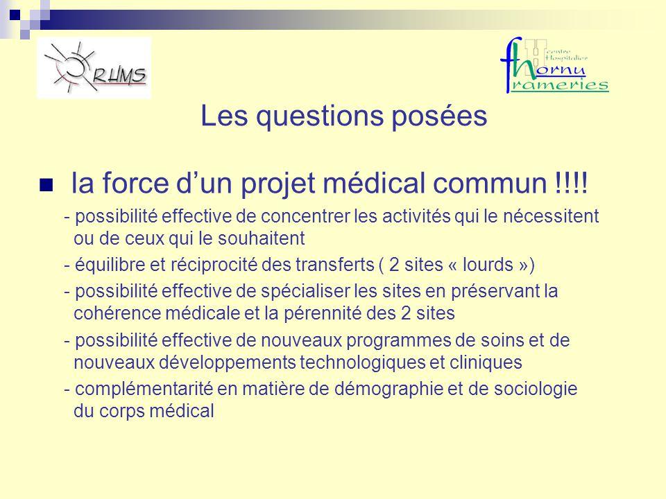 Les questions posées la force dun projet médical commun !!!! - possibilité effective de concentrer les activités qui le nécessitent ou de ceux qui le