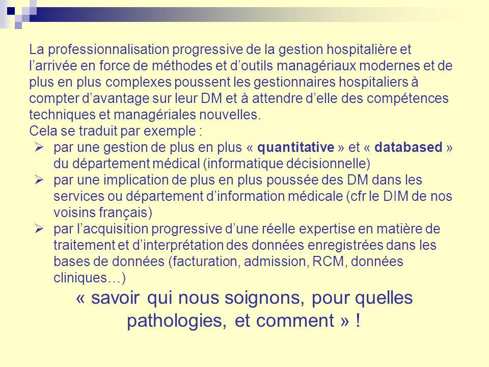 La professionnalisation progressive de la gestion hospitalière et larrivée en force de méthodes et doutils managériaux modernes et de plus en plus com