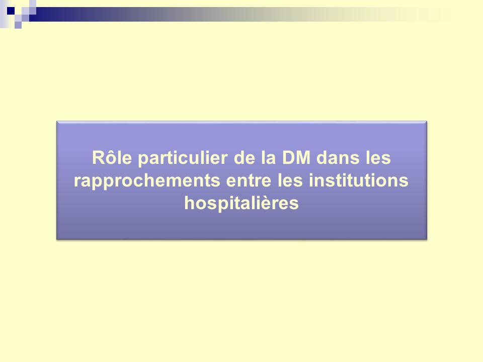 Rôle particulier de la DM dans les rapprochements entre les institutions hospitalières