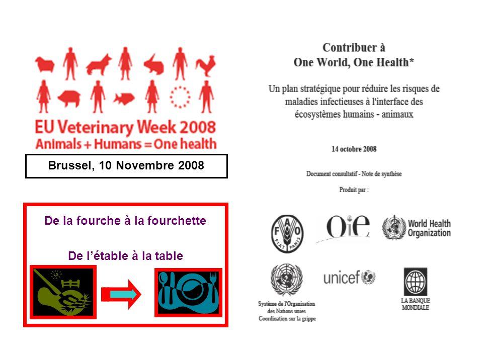 De la fourche à la fourchette De létable à la table Brussel, 10 Novembre 2008