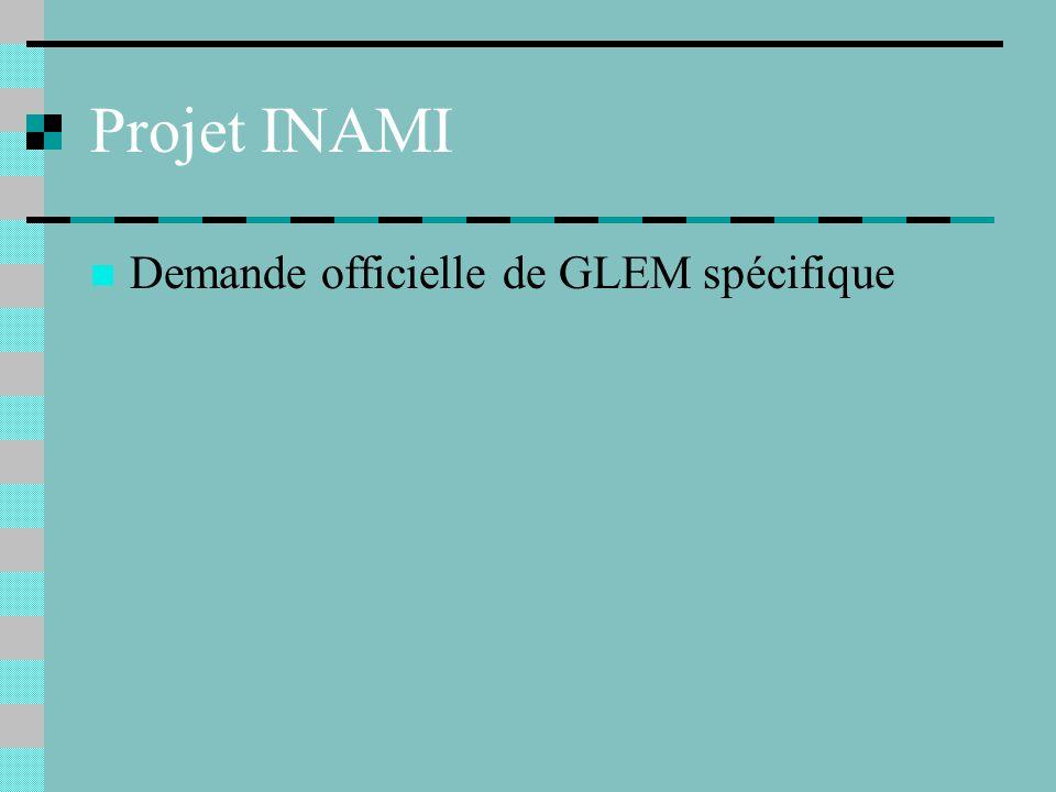 Projet INAMI Demande officielle de GLEM spécifique