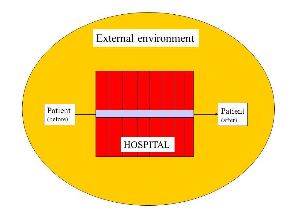 Patient (before) Patient (after) HOSPITAL External environment