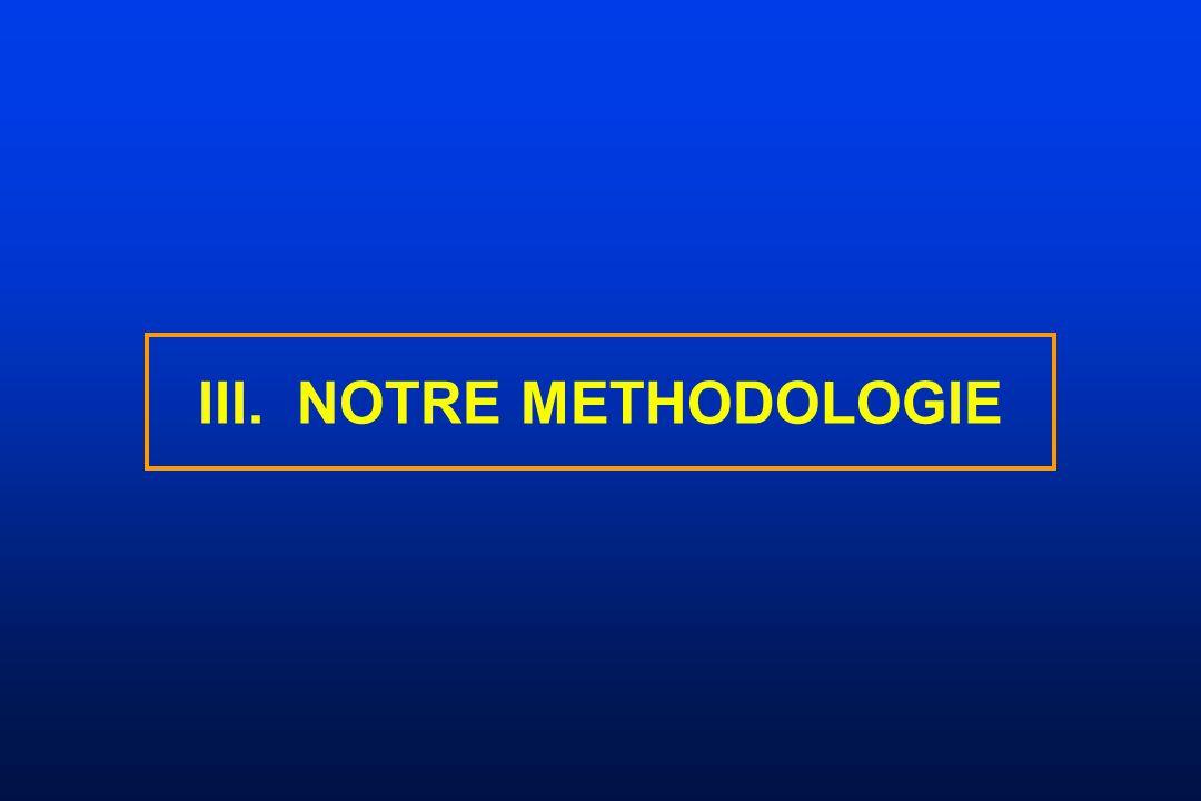 III. NOTRE METHODOLOGIE