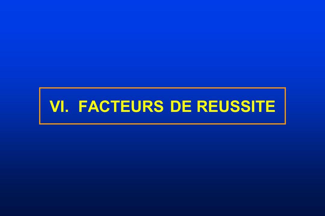 VI. FACTEURS DE REUSSITE