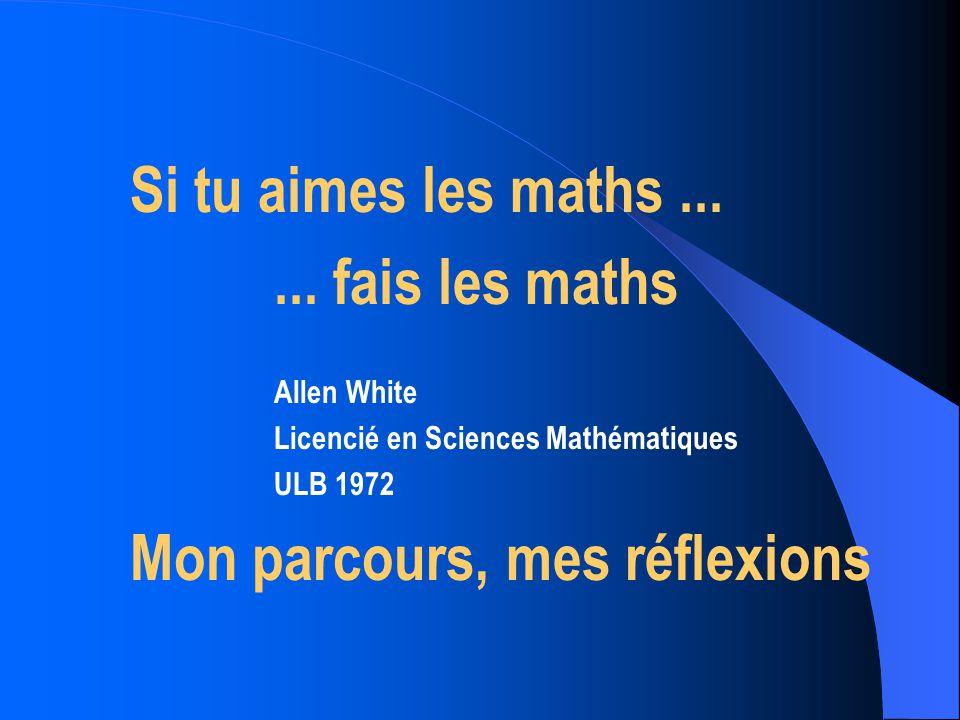 Choisir les maths .
